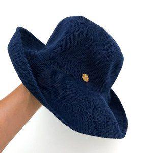 CARIBBEAN JOE Women's Navy Blue Knit Sun Hat
